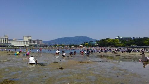 竹島海岸で潮干狩り_11時