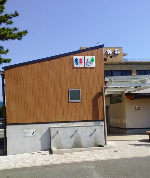 竹島海岸で潮干狩り_一番きれいなトイレ