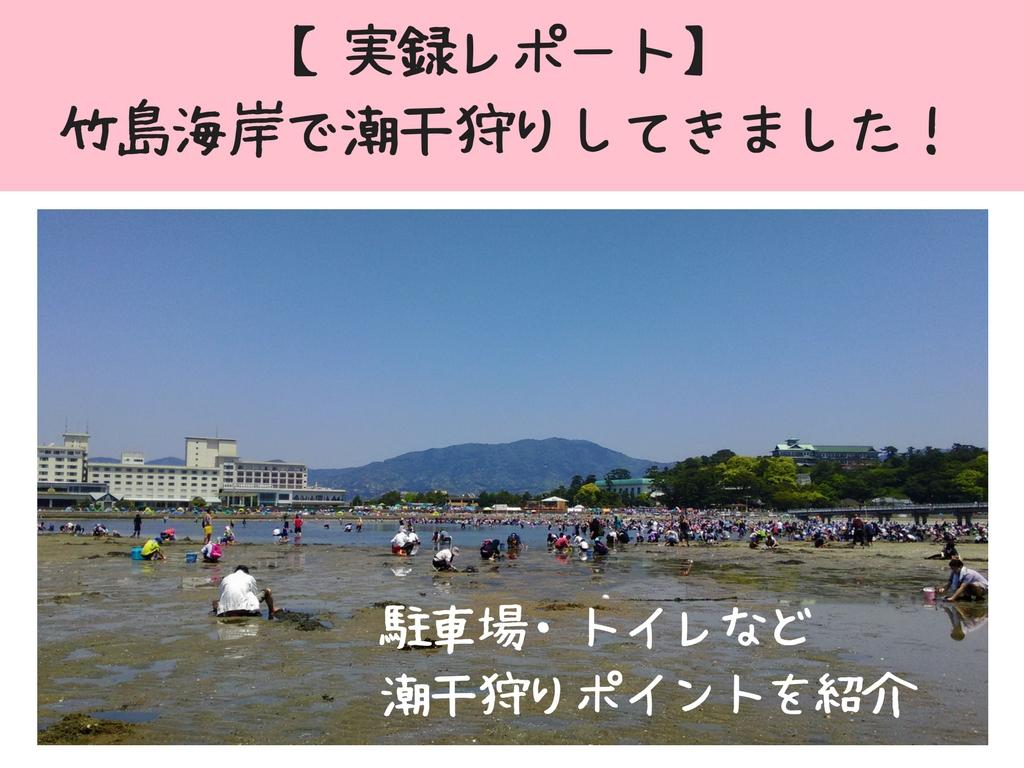 【実録レポート2018】竹島海岸で潮干狩り!駐車場情報あり